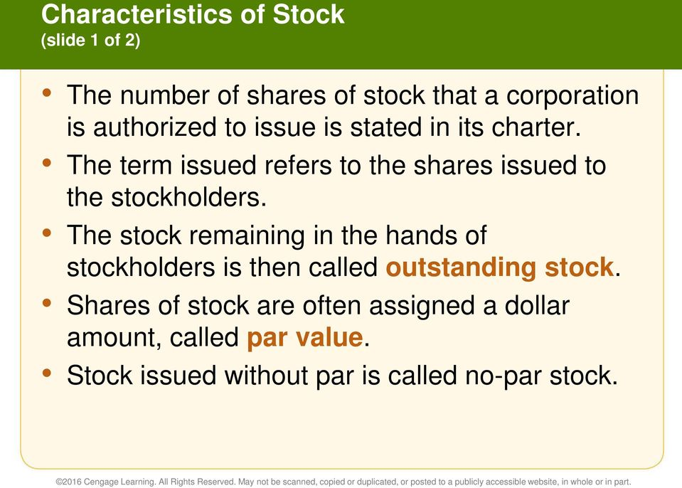 The term issued refers to the shares issued to the stockholders.