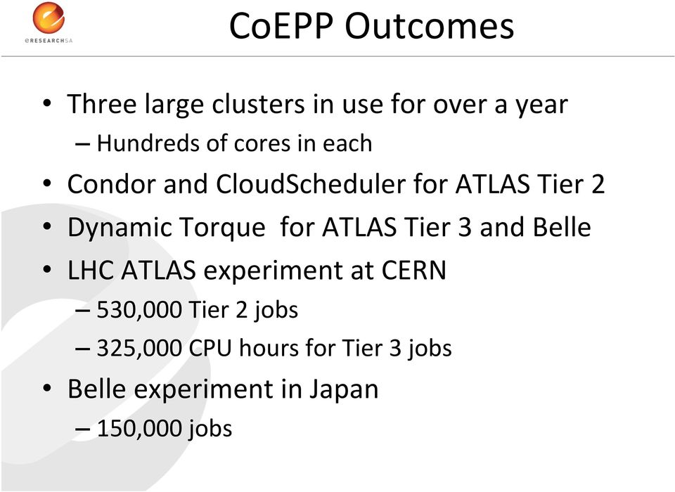 for ATLAS Tier 3 and Belle LHC ATLAS experiment at CERN 530,000 Tier 2