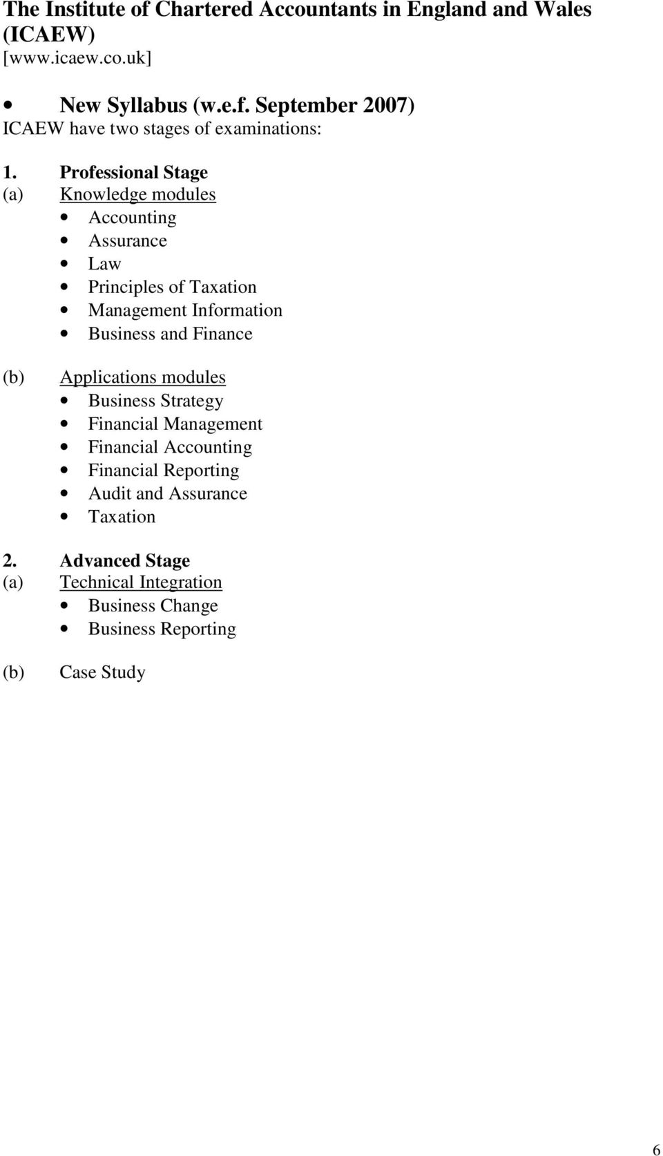 Finance (b) Applications modules Business Strategy Financial Management Financial Accounting Financial Reporting Audit and