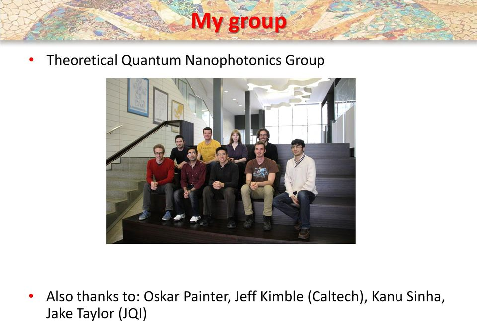 to: Oskar Painter, Jeff Kimble