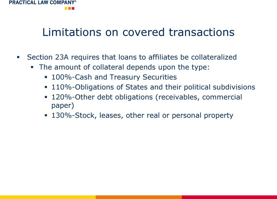 Securities 110%-Obligations of States and their political subdivisions 120%-Other debt