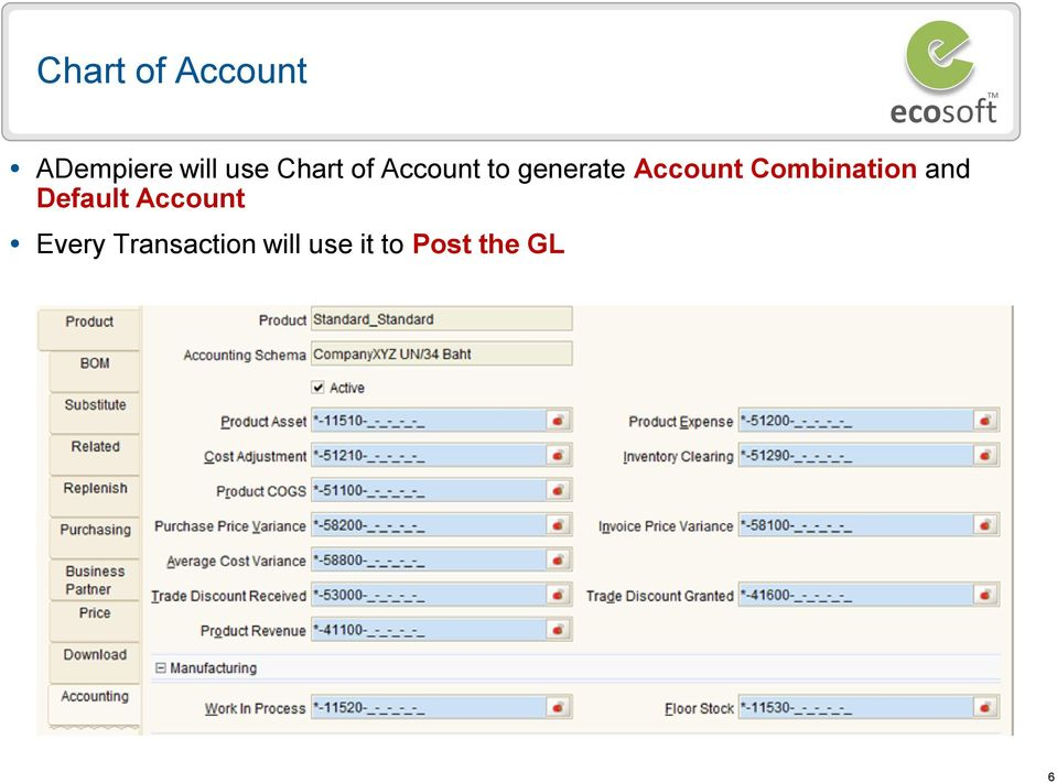 Combination and Default Account Every