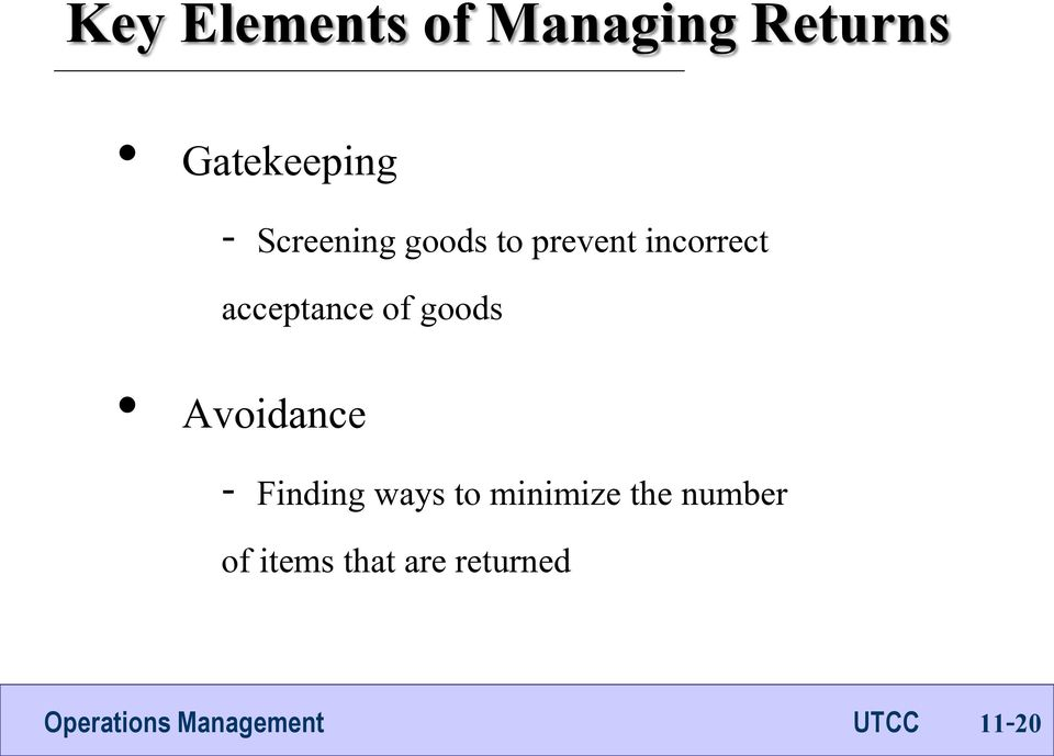 acceptance of goods Avoidance - Finding ways