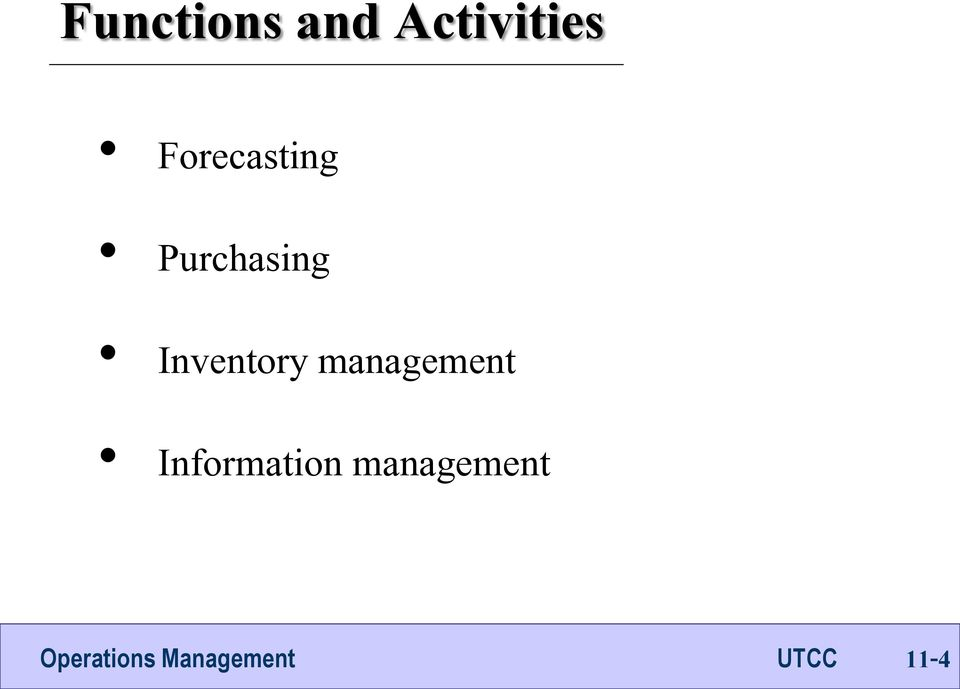 Purchasing Inventory