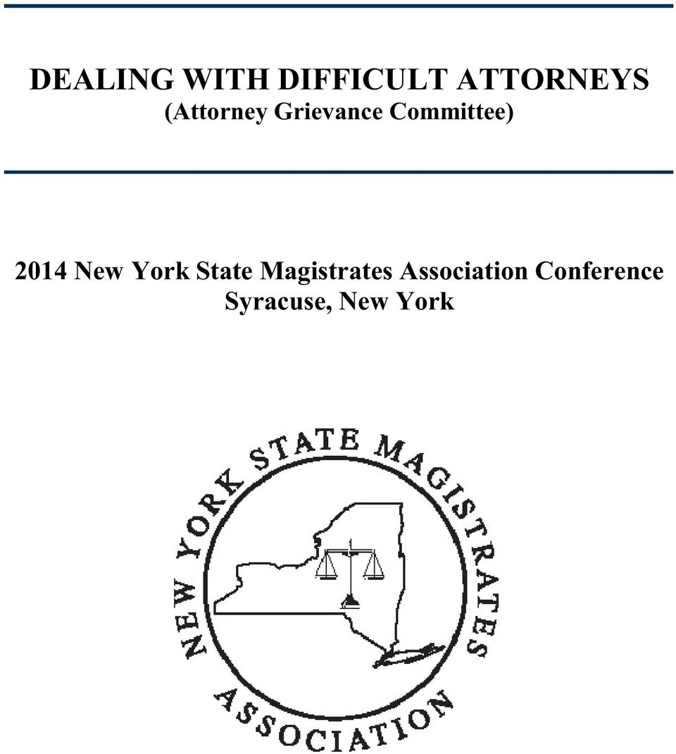 2014 New York State Magistrates