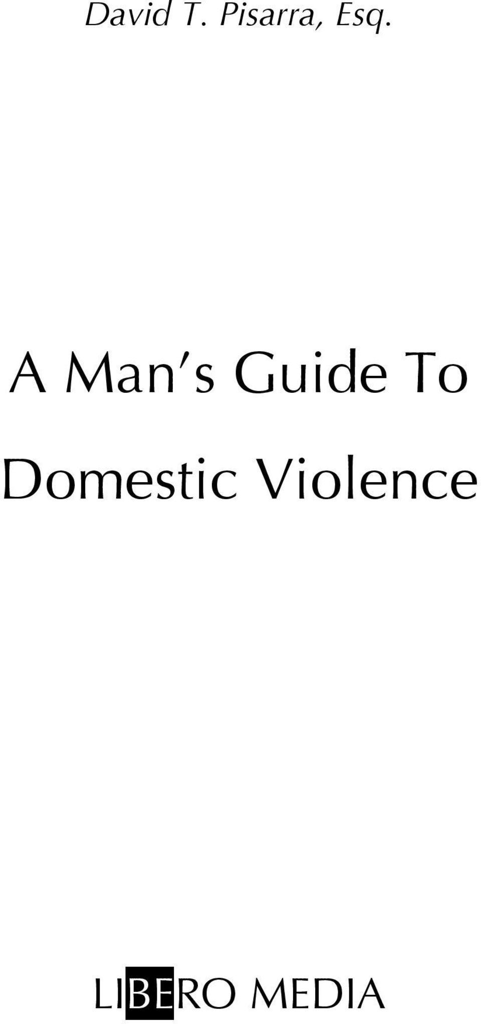 A Man s Guide To