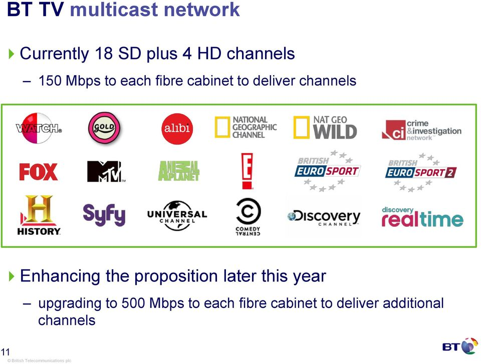 channels Enhancing the proposition later this year