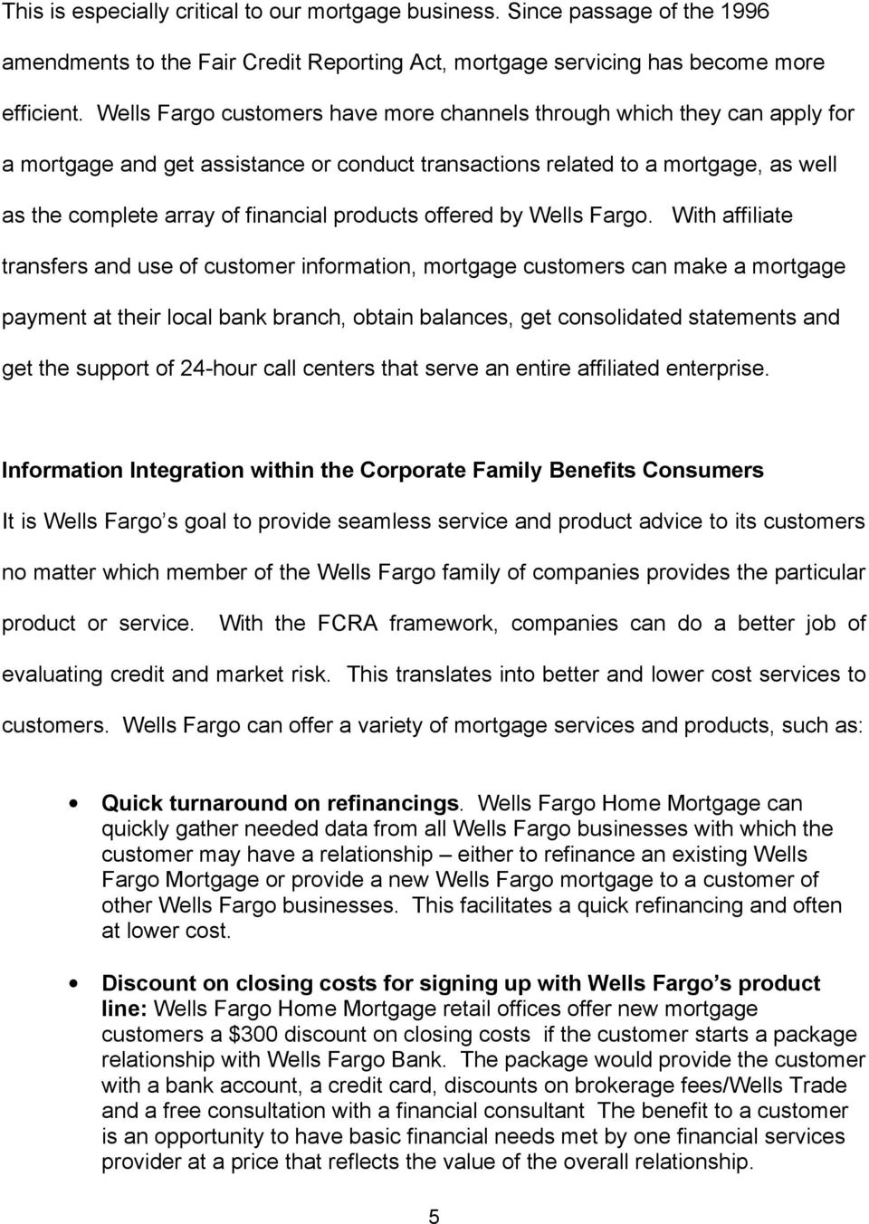 products offered by Wells Fargo.
