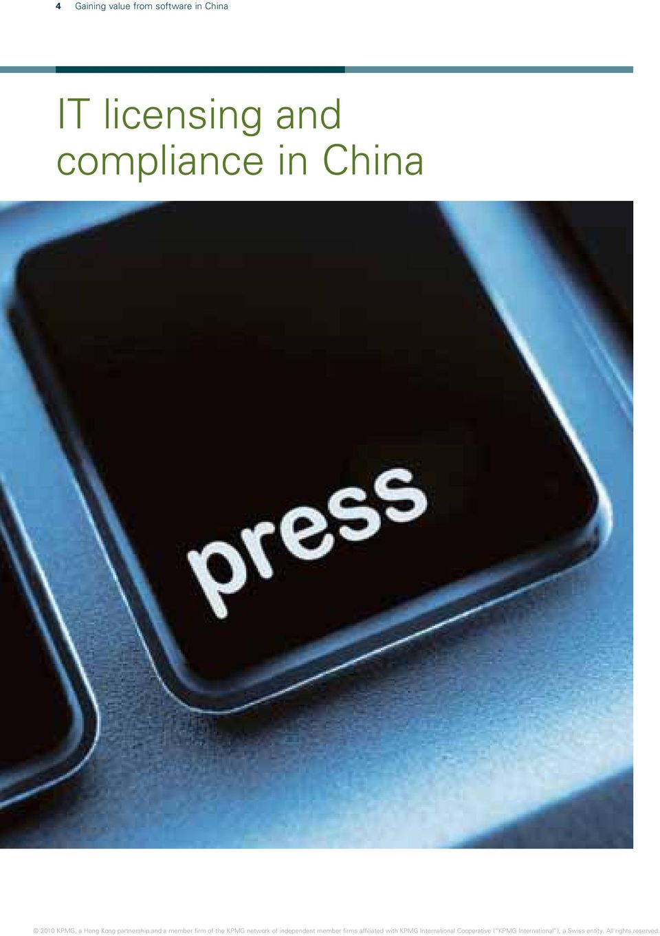 China IT licensing
