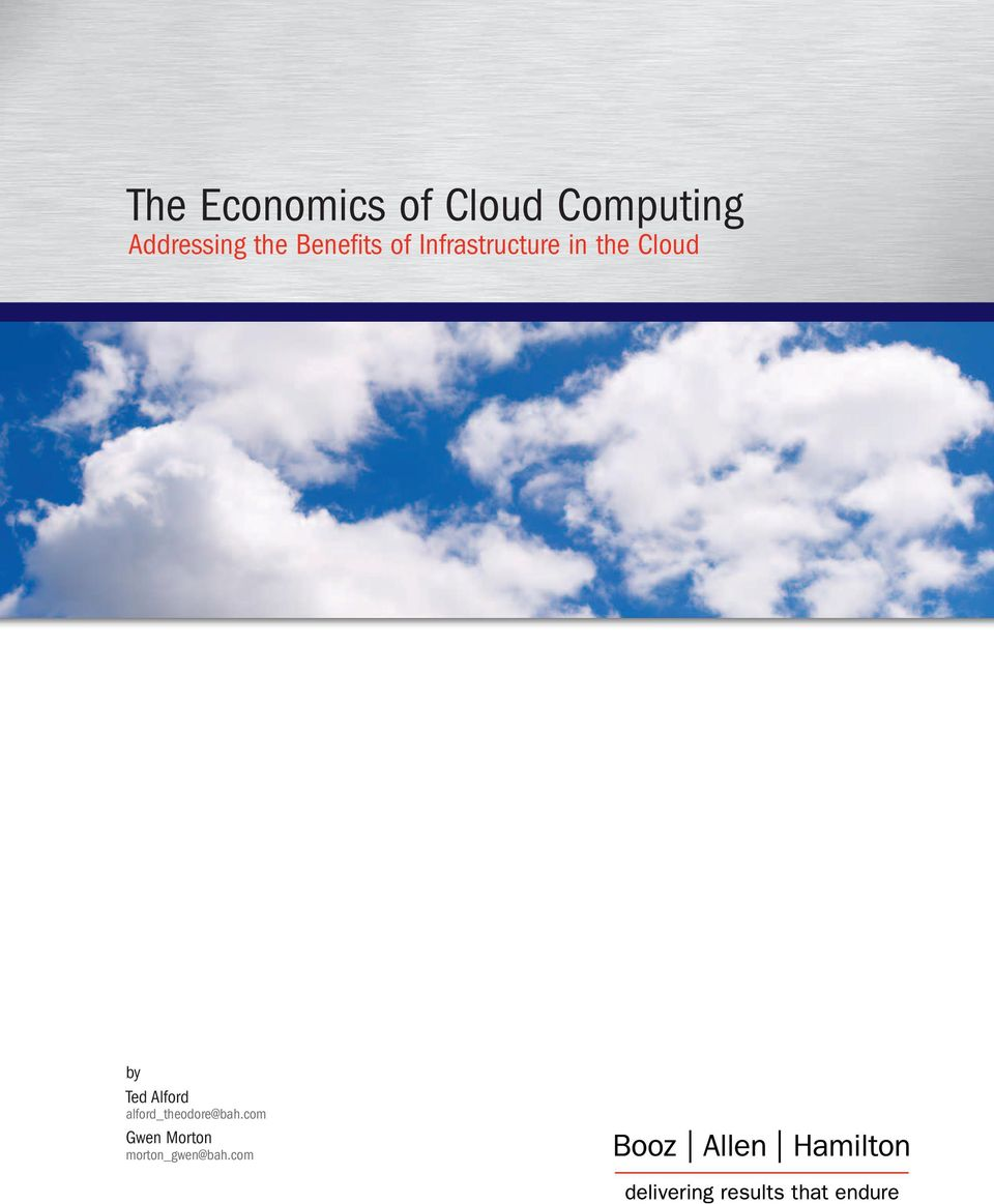 Infrastructure in the Cloud by Ted