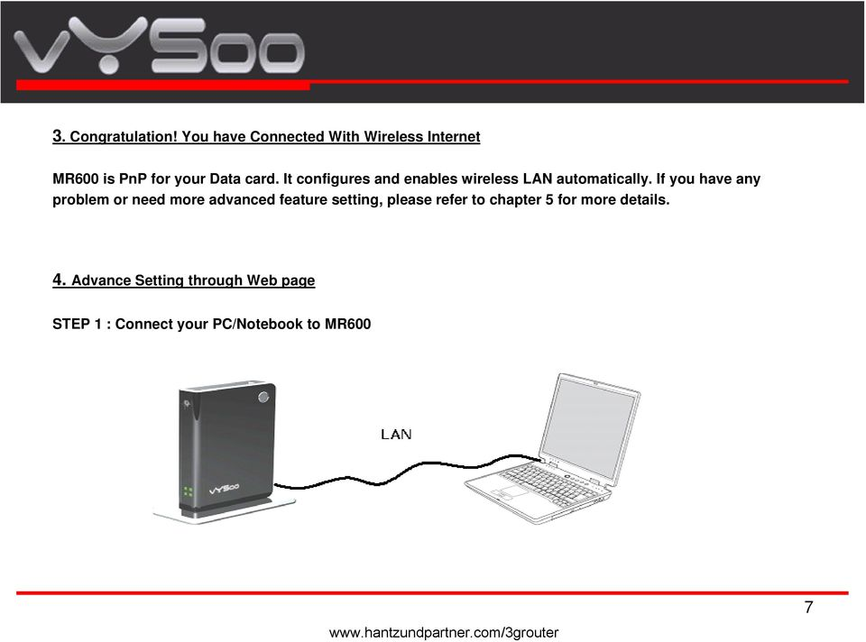 It configures and enables wireless LAN automatically.