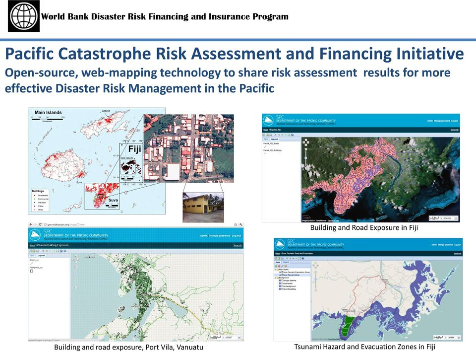 Disaster Risk Management in the Pacific Building and Road Exposure in Fiji