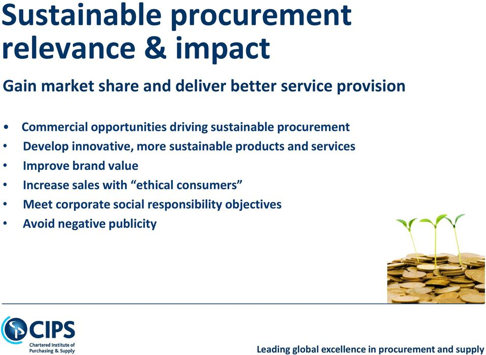 innovative, more sustainable products and services Improve brand value Increase sales