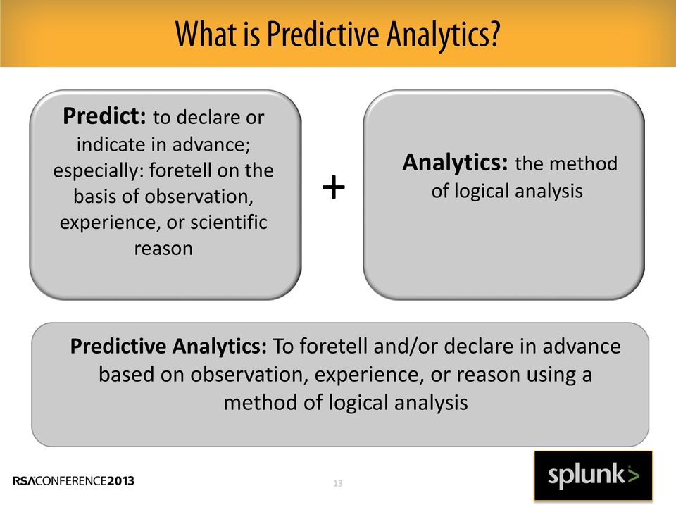 observation, experience, or scientific reason + Analytics: the method of logical