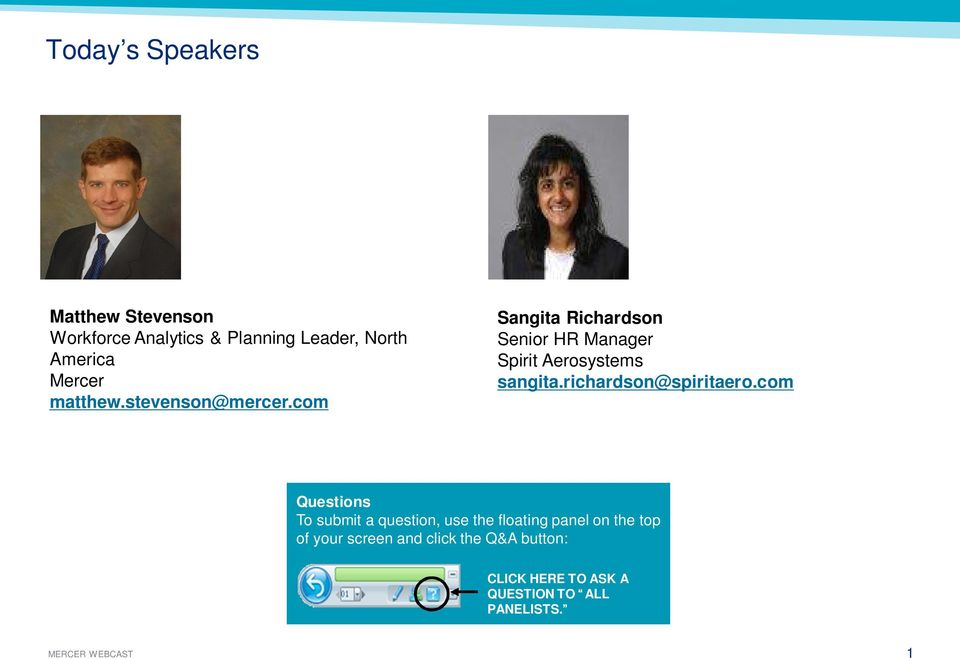com Sangita Richardson Senior HR Manager Spirit Aerosystems sangita.richardson@spiritaero.