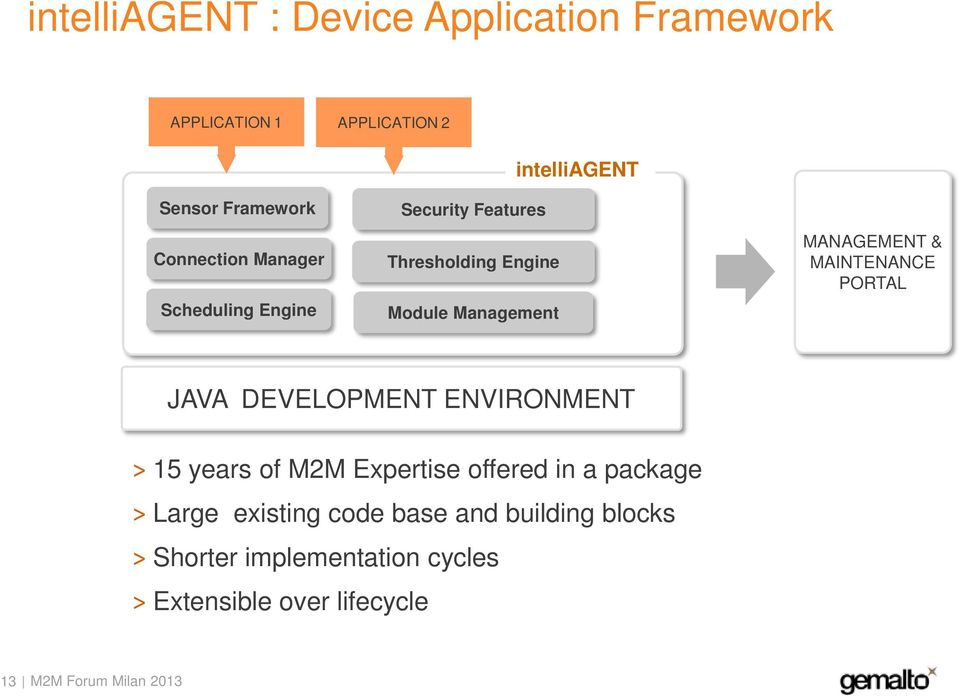 MANAGEMENT & MAINTENANCE PORTAL JAVA DEVELOPMENT ENVIRONMENT 15 years of M2M Expertise offered in a