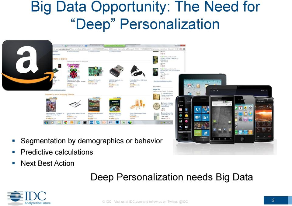 calculations Next Best Action Deep Personalization needs