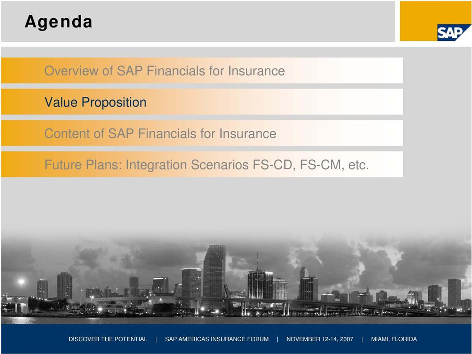 SAP Financials for Insurance Future