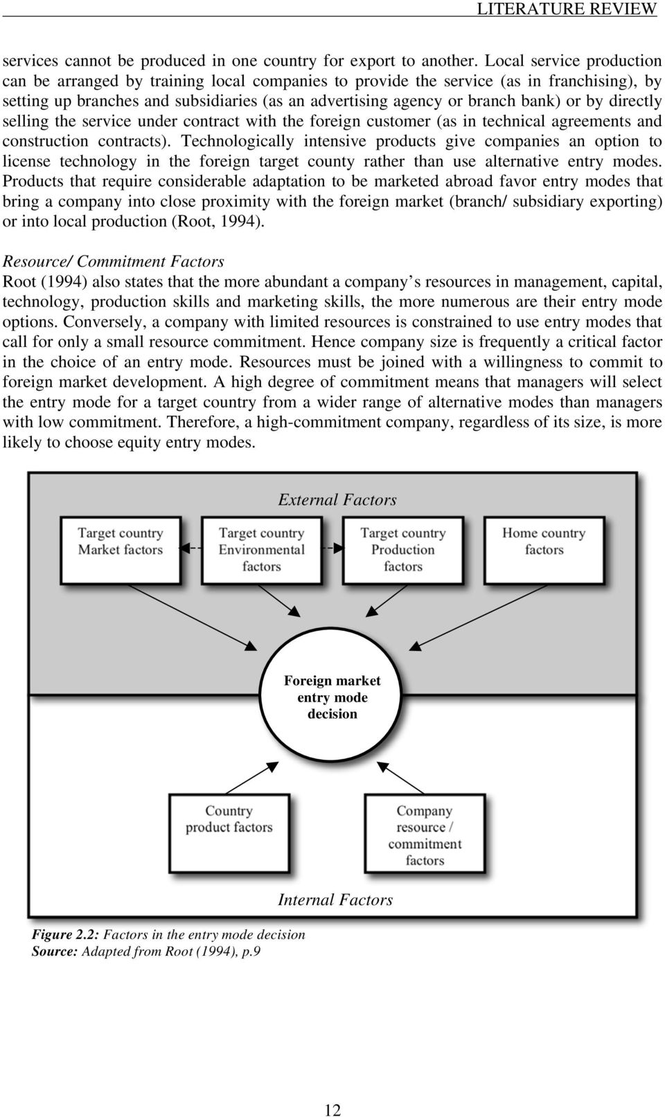 factors affecting the foreign market entry mode decision