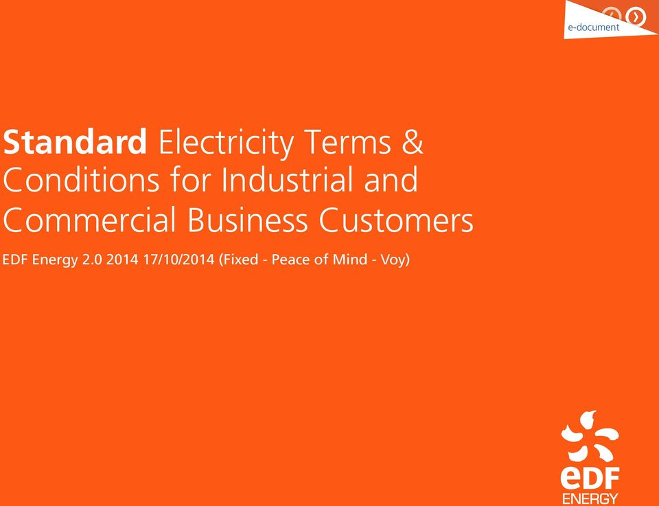 Commercial Business Customers EDF