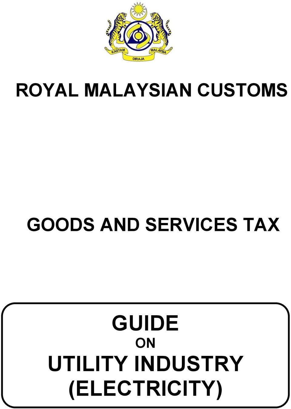 SERVICES TAX GUIDE ON