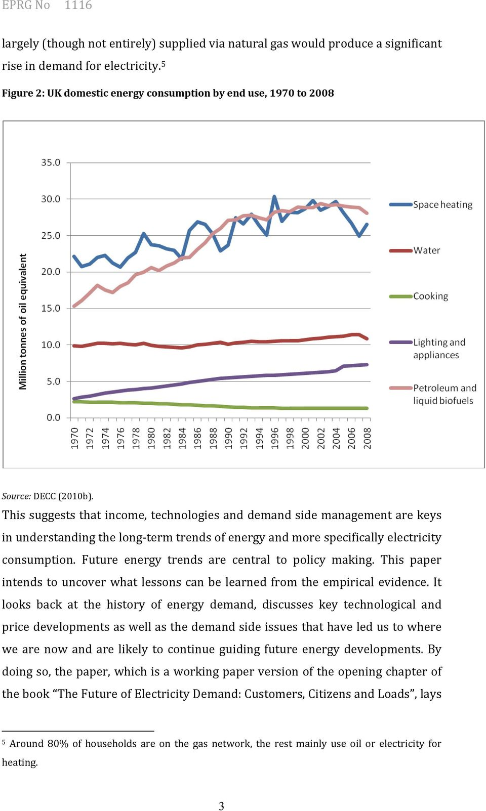 This suggests that income, technologies and demand side management are keys in understanding the long-term trends of energy and more specifically electricity consumption.