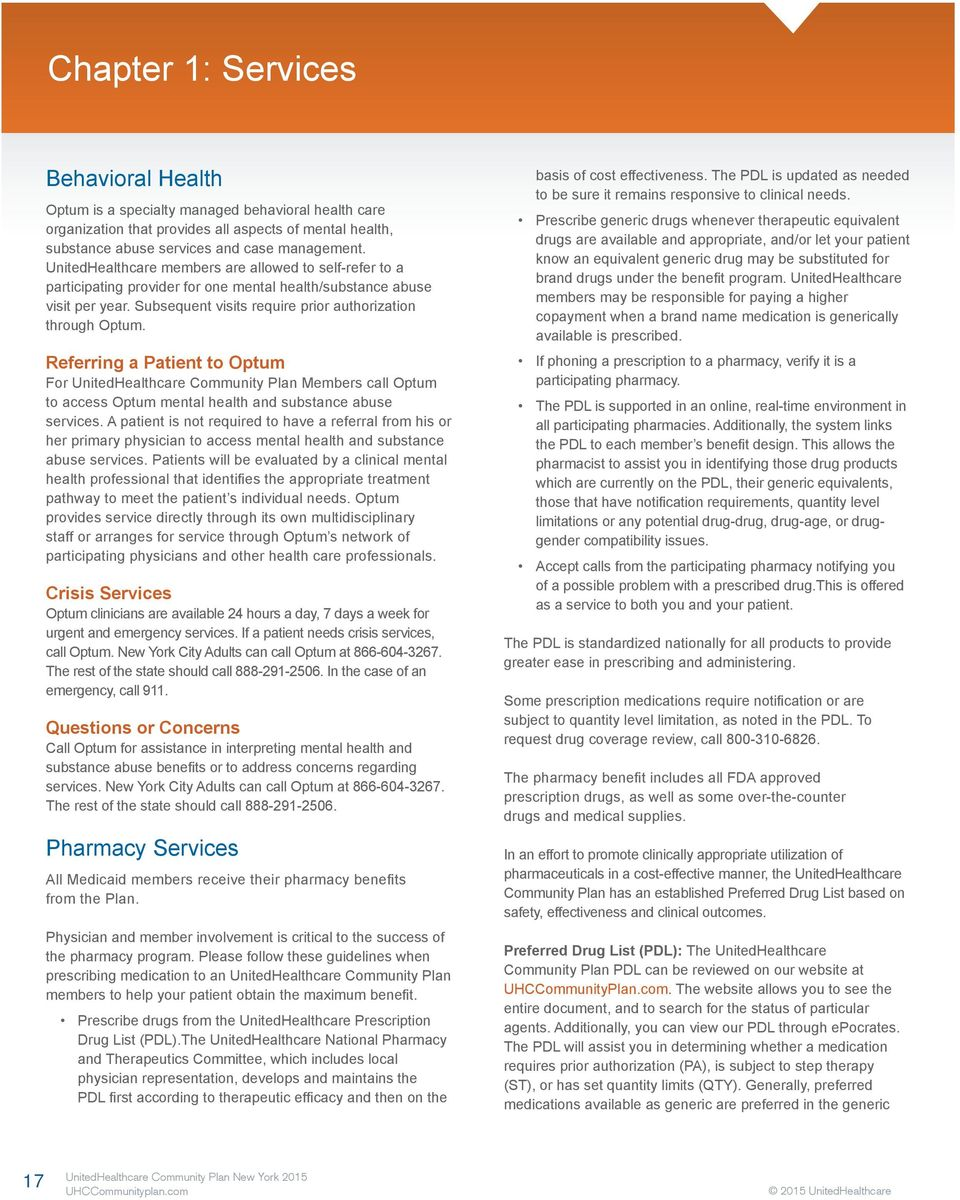 Administrative Guide New York Community Plan Physician Health