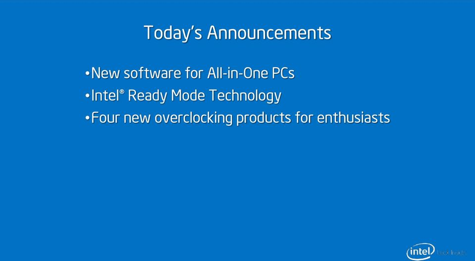 Intel Ready Mode Technology