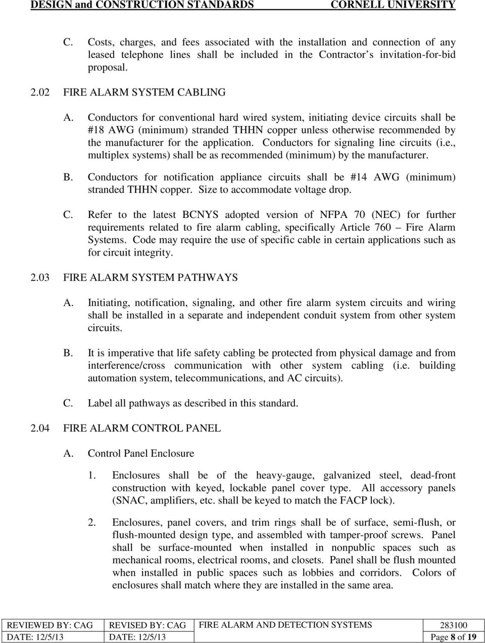 Fire Alarm And Detection Systems Pdf System Diagram Conductors For Conventional Hard Wired Initiating Device Circuits Shall Be 18 Awg 9 3 A