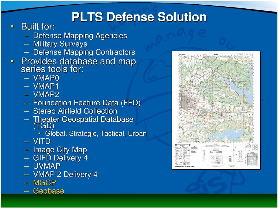Feature Data (FFD) Stereo Airfield Collection Theater Geospatial Database (TGD) Global,