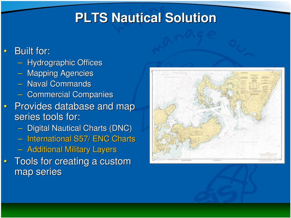 map series tools for: Digital Nautical Charts (DNC) International