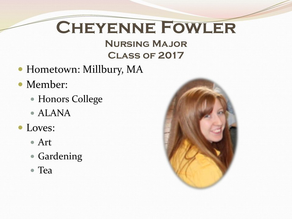 MA Member: Honors College