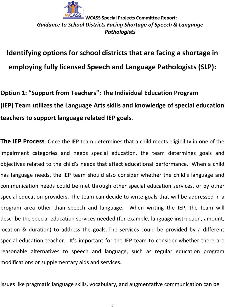 language related IEP gals.