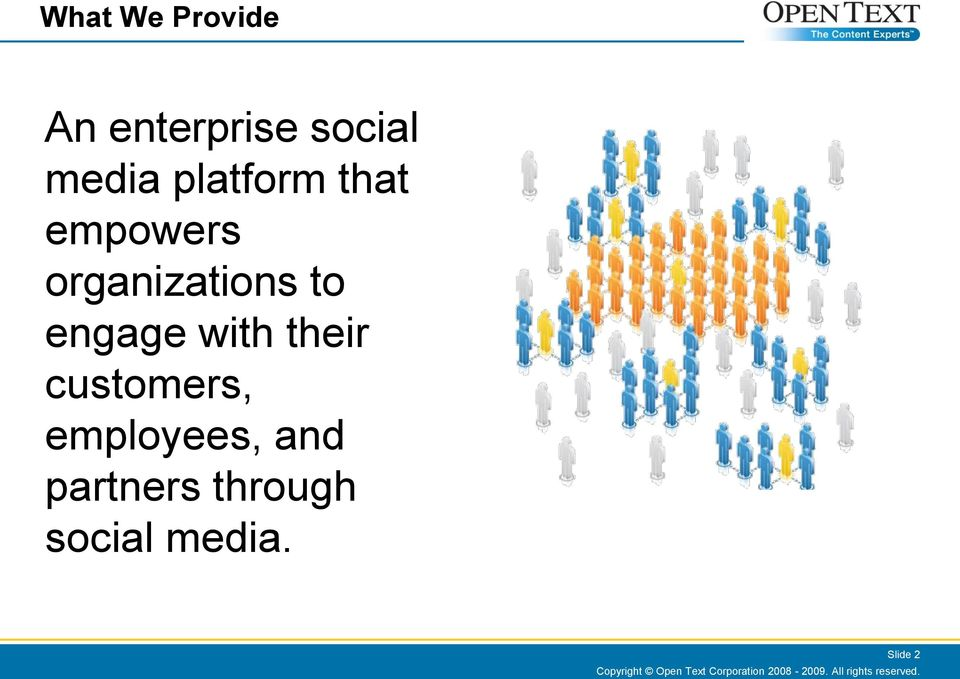 employees, and partners through social media.