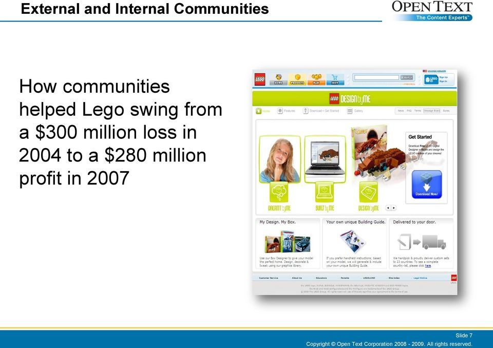 to a $280 million profit in 2007 Slide 7 Copyright