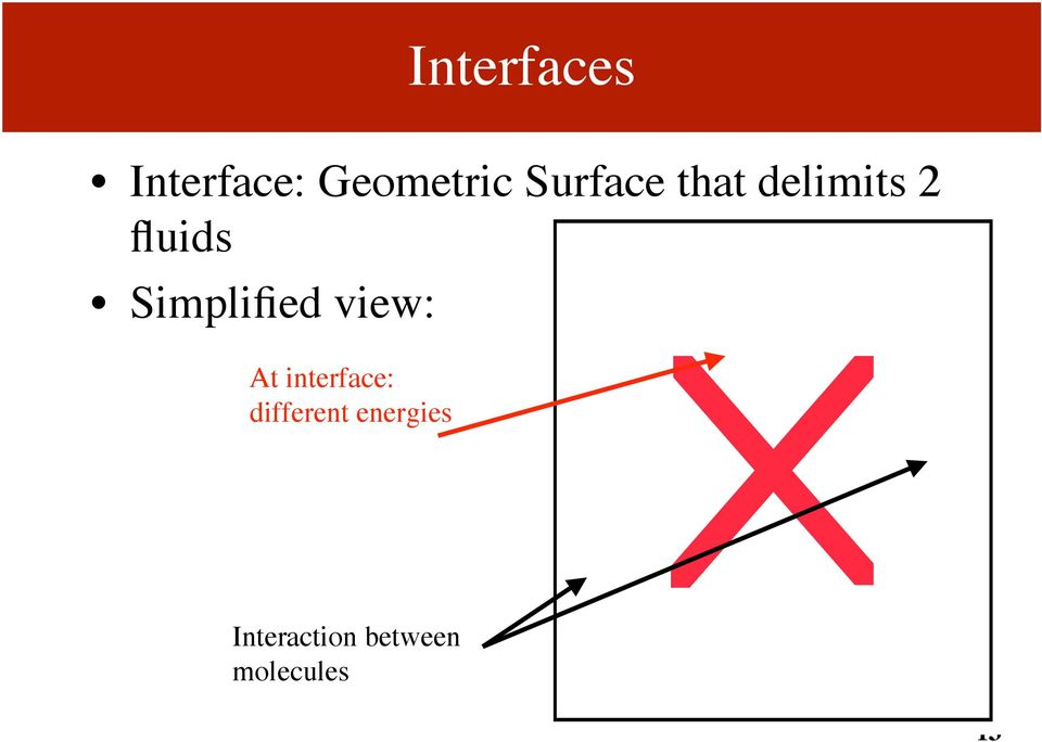 Simplified view: At interface: