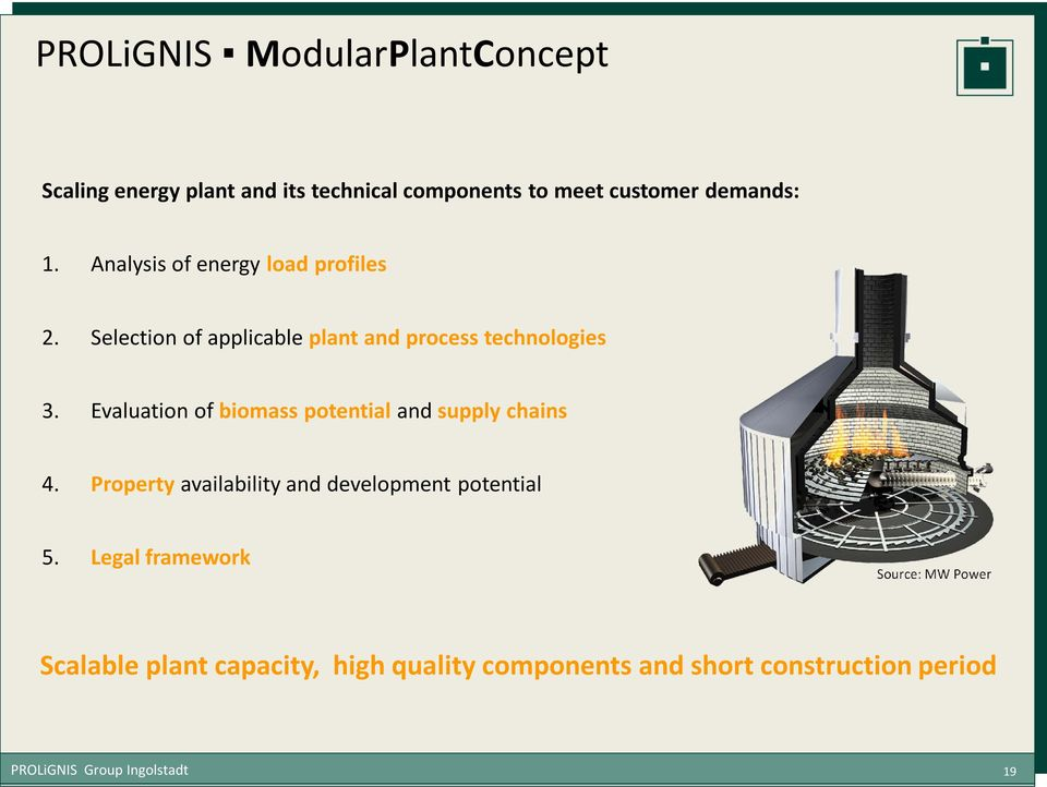 Evaluation of biomass potential and supply chains 4. Property availability and development potential 5.