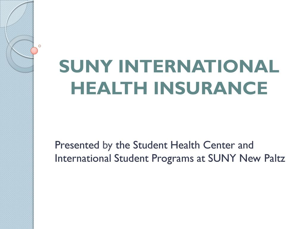 Student Health Center and