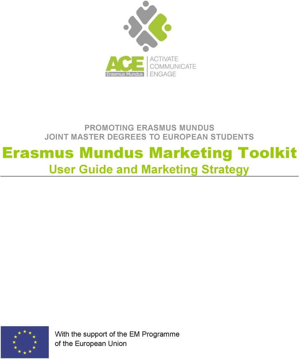 Toolkit User Guide and Marketing Strategy With
