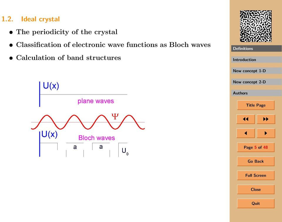 electronic wave functions as Bloch