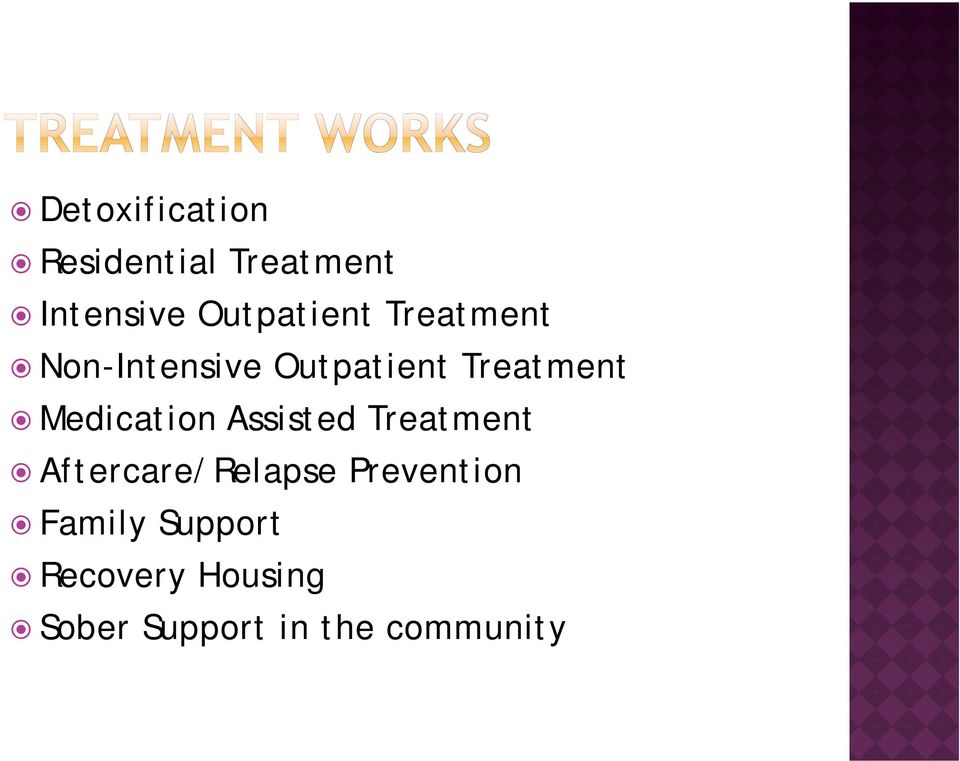 Medication Assisted Treatment Aftercare/Relapse