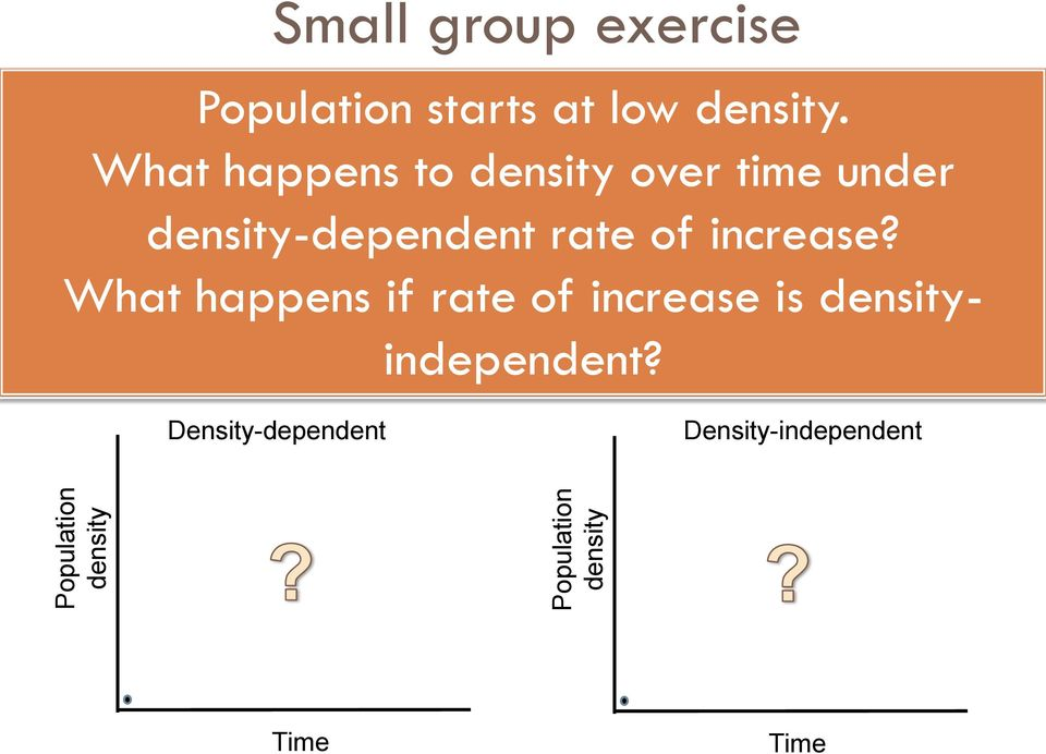 What happens to density over time under density-dependent rate of