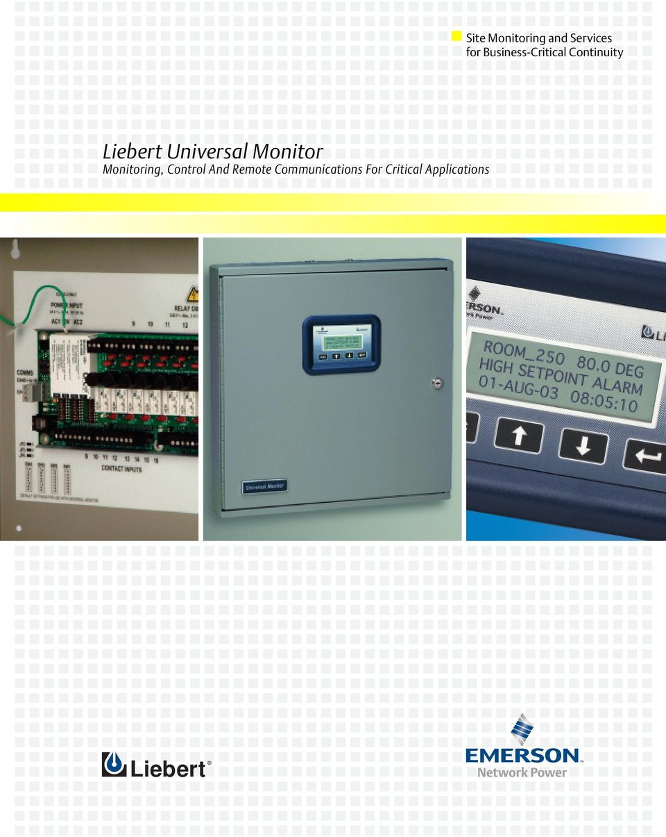 Universal Monitor Monitoring, Control And