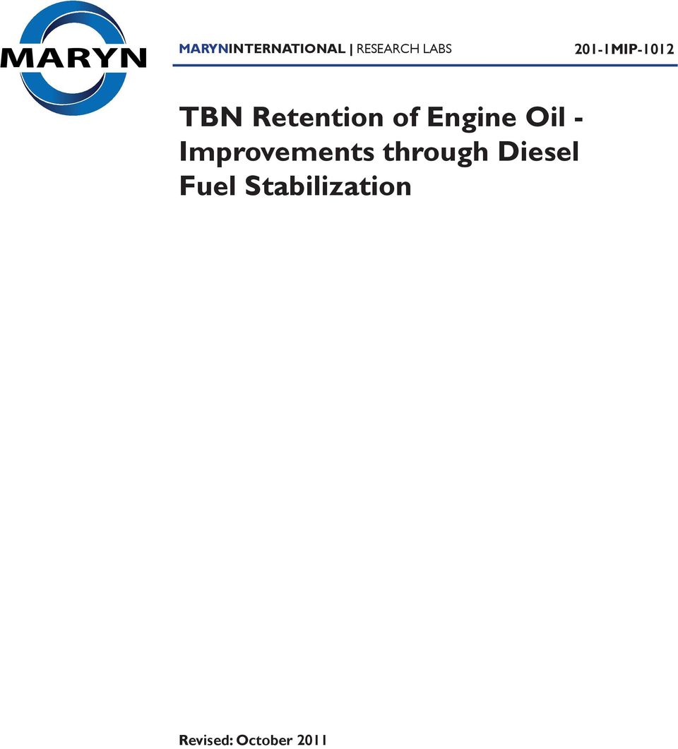 Engine Oil - Improvements through