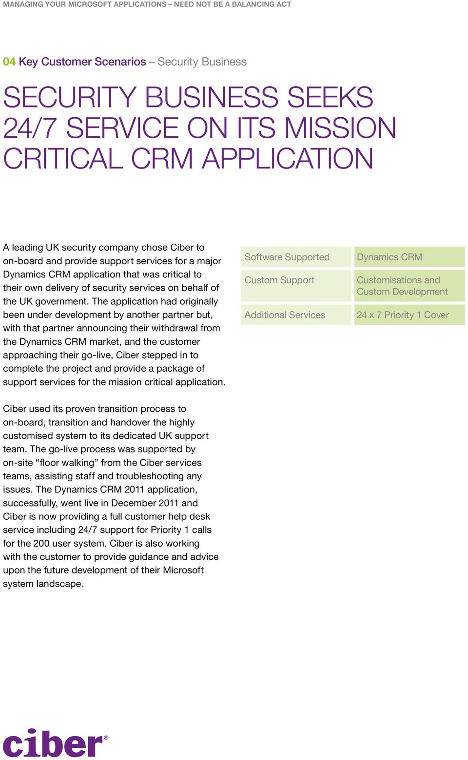 The application had originally been under development by another partner but, with that partner announcing their withdrawal from the Dynamics CRM market, and the customer approaching their go-live,