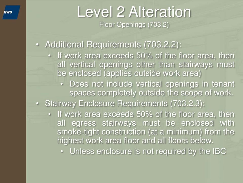 Additional Requirements (703.2.