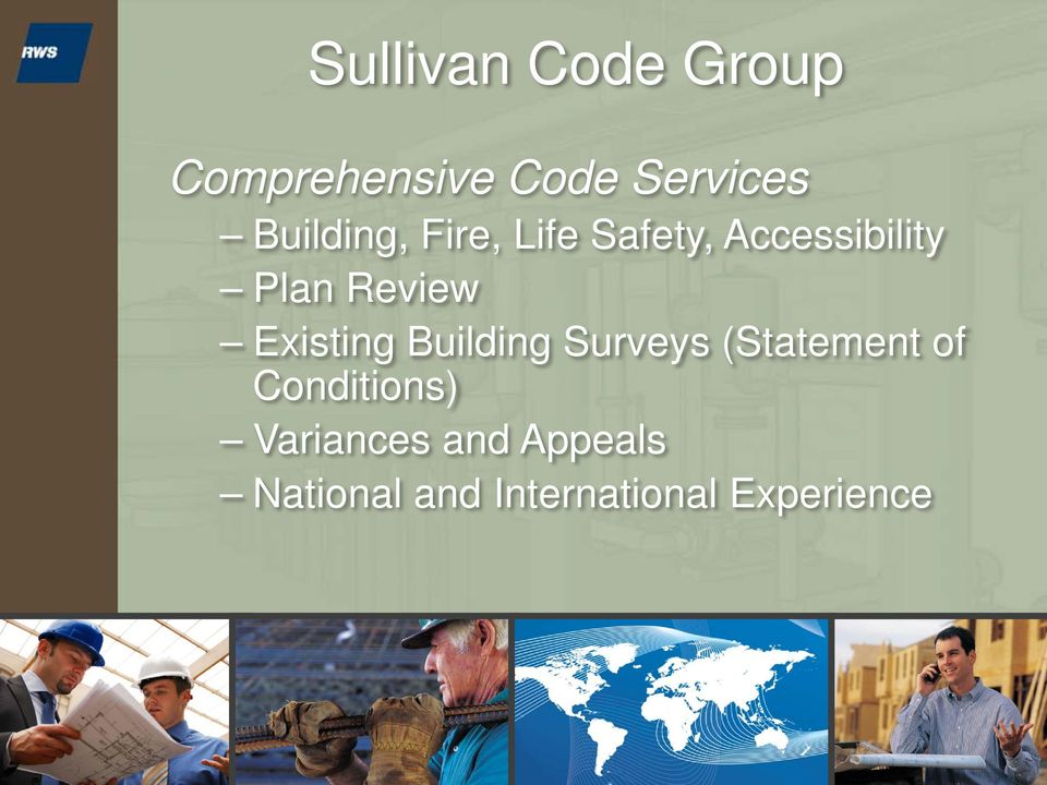 Review Existing Building Surveys (Statement of