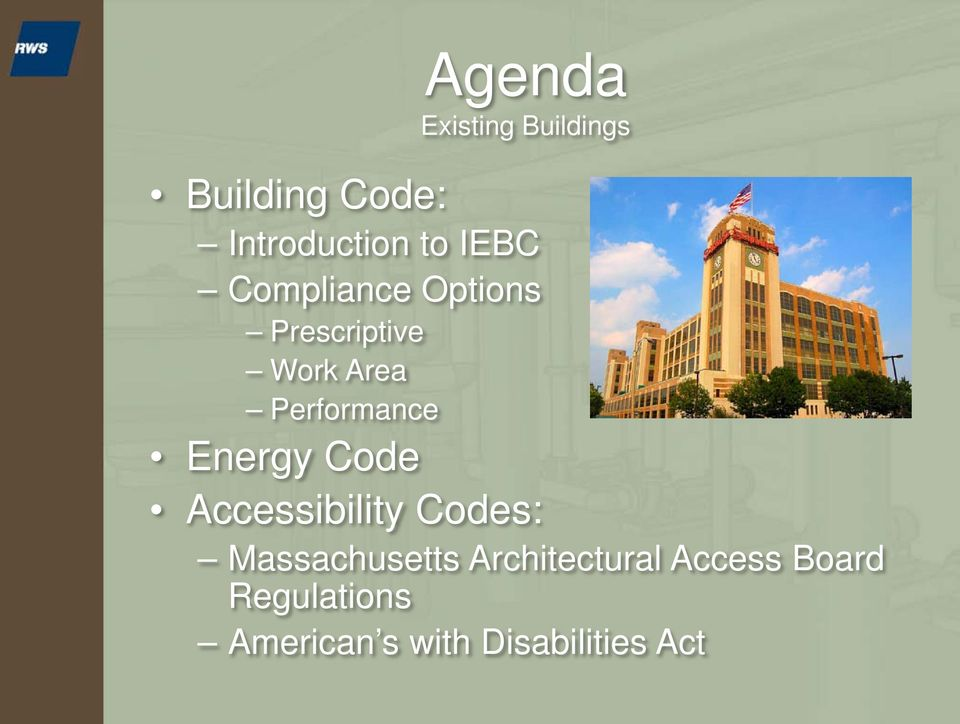 Energy Code Accessibility Codes: Massachusetts