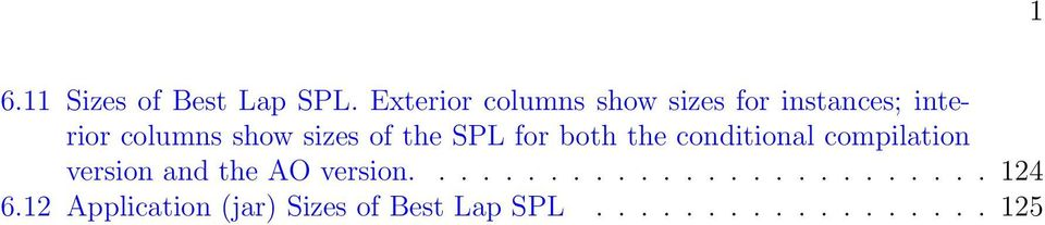 sizes of the SPL for both the conditional compilation version and