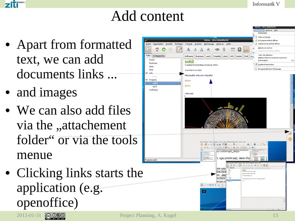 .. and images We can also add files via the